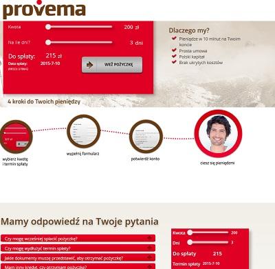 Pożyczka chwilówka provema.pl opinie