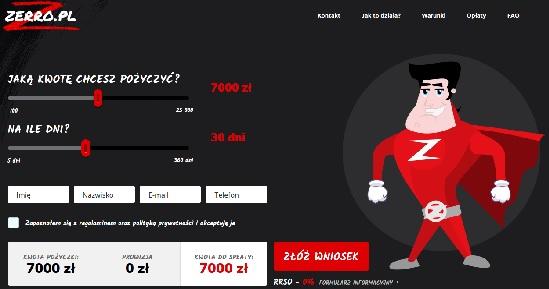zerro.pl opinie chwilówka pożyczka