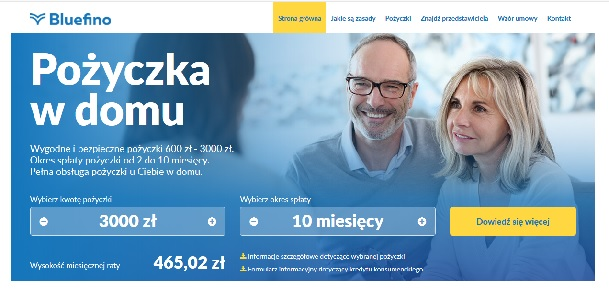 Pożyczka Bluefino Opinie Klientów