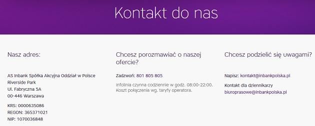 inbank.pl opinie pożyczka kredyt