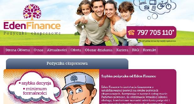 edenfinance.pl opinie pożyczka chwilówka