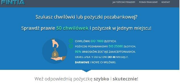 Fintia.pl findezia.pl fandia.pl loandia.pl opinie pożyczka kredyt chwilówka