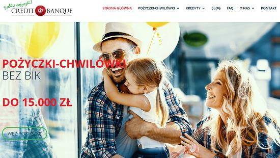 credit banque opinie creditbanque.pl chwilówki pożyczki
