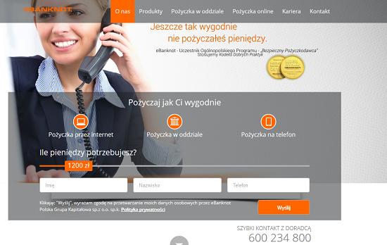 Pożyczka Ebanknot Opinie ebanknot.pl opinie