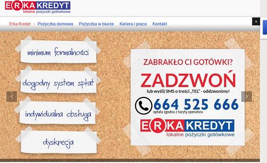 Erka Kredyt Opinie erkakredyt.pl opinie