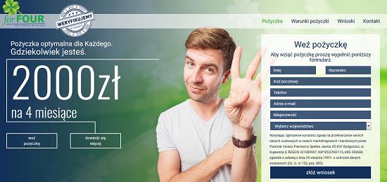 Pożyczka for4.com.pl opinie