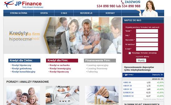 JPFinance Opinie Pożyczka jpfinance.pl opinie