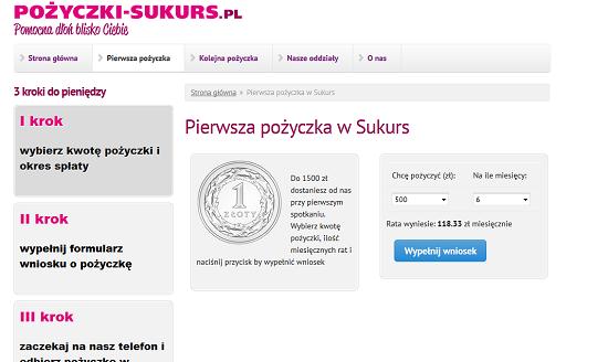Pożyczki SUKURS Opinie pozyczki-sukurs.pl opinie