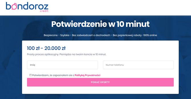 Bondoroz Credit Opinie Pożyczka Bondoroz