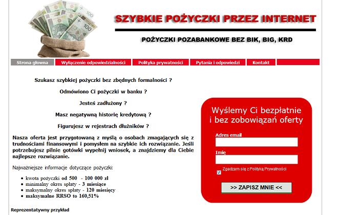 Pożyczka e-cash.com.pl opinie