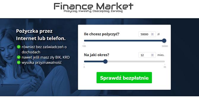 Pożyczka Finance Market Opinie