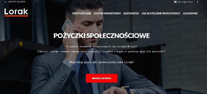Pożyczka Lorak.pl Opinie