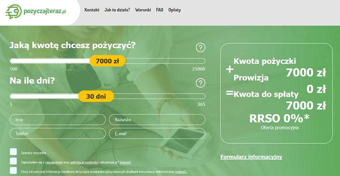 www.pozyczajteraz.pl opinie