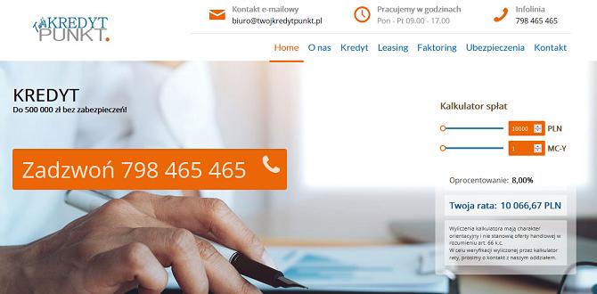 Twój Kredyt Punkt Opinie – www.twojkredytpunkt.pl