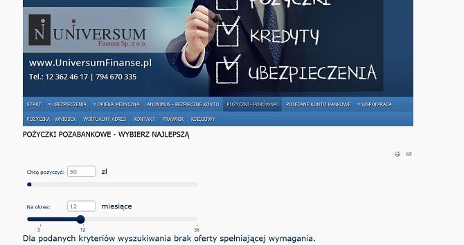 universumfinanse.pl opinie - pożyczki kredyty Universum Finanse Opinie Forum