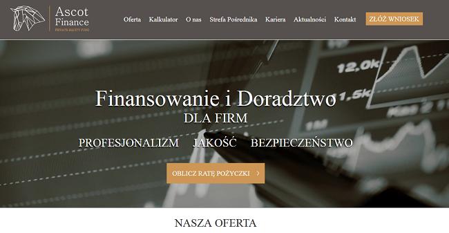 ASCOT FINANCE Opinie ascotfinance.pl (23 Opinie)
