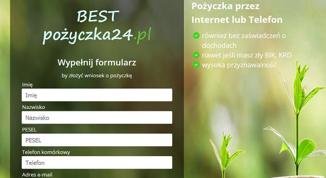 Best Pożyczka24 Opinie – bestpozyczka24.pl