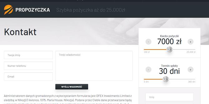 www.propozyczka.pl forum opinie