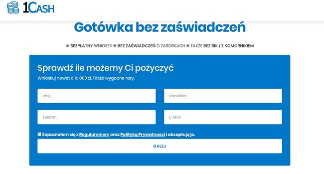 1CASH Opinie 1cash.pl (22 Opinie) Forum