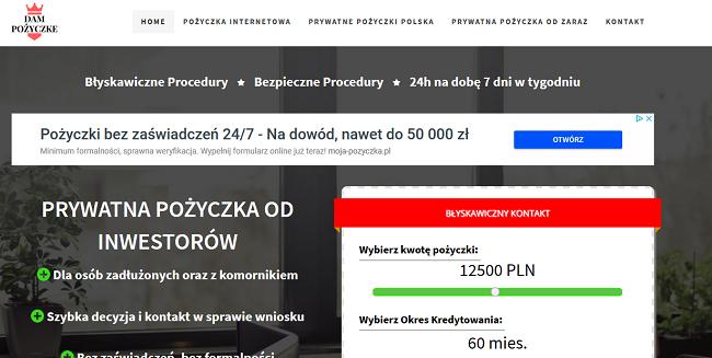 www.dampozyczke.pl
