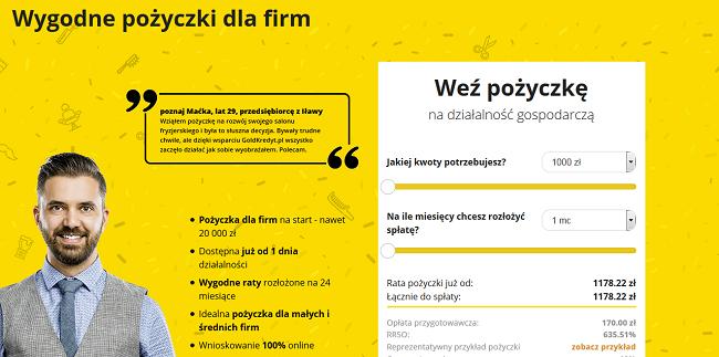goldkredyt.pl opinie kontakt