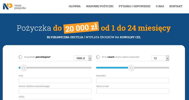 www.naszapozyczka.pl co to za firma macie jakieś opinie ?