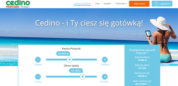 cedino.pl opinie klienta firmy
