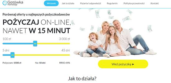 www.gotowkanonstop.pl pożyczki i kredyty
