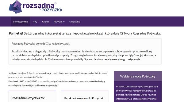 www.rozsadnapozyczka.pl opinia klienta firmy