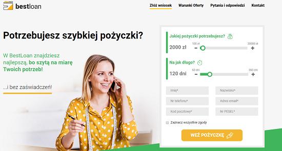 Best Loan Opinie bestloan.pl (33 opinie) forum