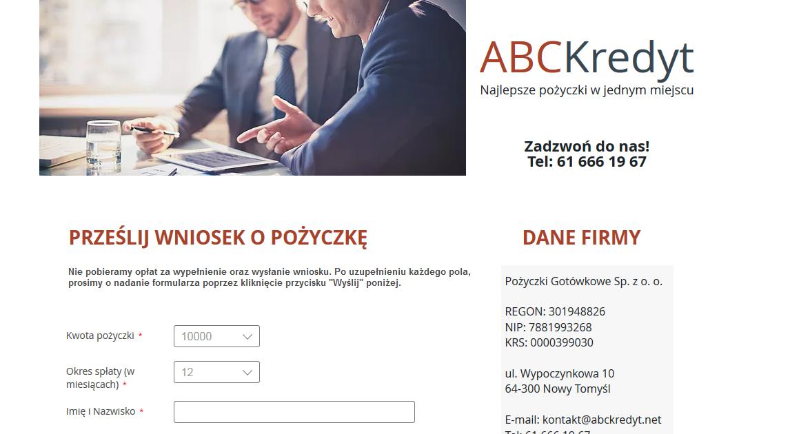 ABC Kredyt Opinie abckredyt.net (22 opinie)